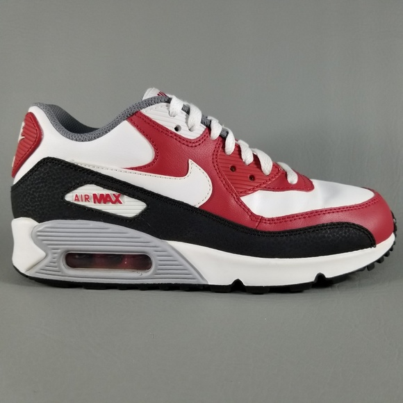 Nike Air Max 90 LTR GS Shoes Red Black White 6Y